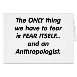 恐れの人類学者 カード