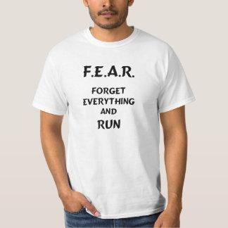 恐れはすべてを忘れ、走られる Tシャツ
