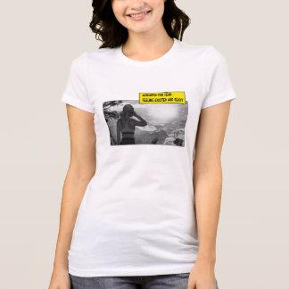 恐れは=刺激される感じること用意し、 Tシャツ