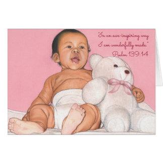 恐れを抱かせるようなWay~Wonderfully Made~Scripture~Baby カード