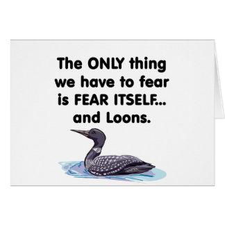 恐れ自体の水潜り鳥 カード
