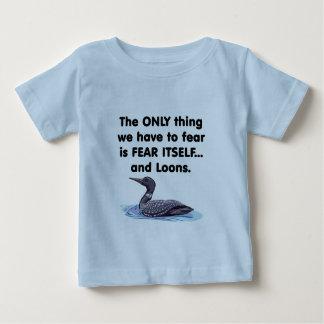 恐れ自体の水潜り鳥 ベビーTシャツ