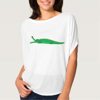 恐れ、ワニの珍しい芸術のない衣服 Tシャツ