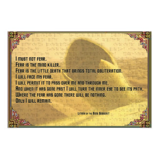 恐れShai HuludおよびFremenの文字に対する連祷 フォトプリント