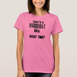"""""""恐ろしいアイディア""""のWmsの基本的なTシャツである Tシャツ"""