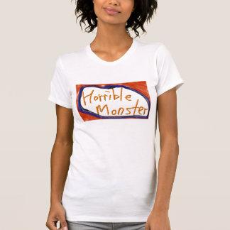 恐ろしいモンスターのワイシャツ、女性 Tシャツ