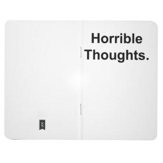 恐ろしい思考(白の黒) ポケットジャーナル