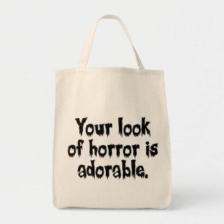 恐怖のあなたの一見は愛らしいです トートバッグ