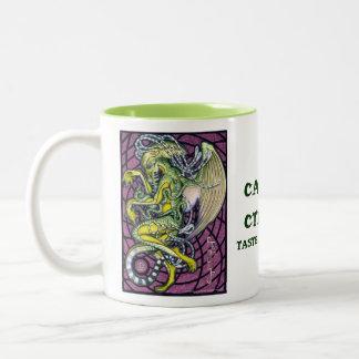 恐怖のCthulhuのマグ ツートーンマグカップ
