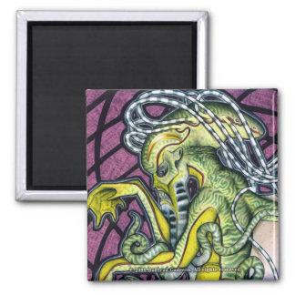恐怖のCthulhuの正方形の磁石 マグネット