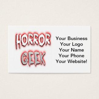 恐怖ギークの赤 名刺