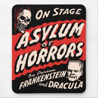 恐怖ヴィンテージの幽霊ショーポスターの保護所 マウスパッド