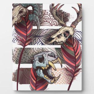 恐怖動物の悪態の骨組スカル フォトプラーク
