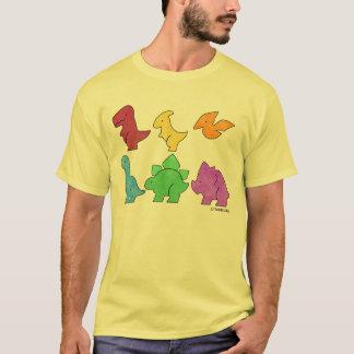 恐竜によって着色されるティー: TheCarloswagのTシャツ Tシャツ