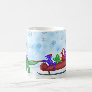 恐竜のそりの乗車 コーヒーマグカップ