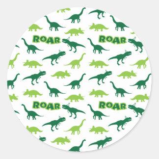 恐竜のとどろきのステッカー ラウンドシール
