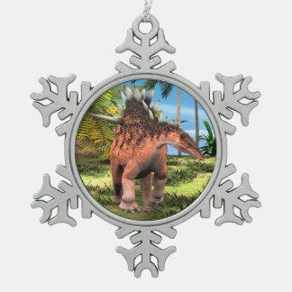 恐竜のケントロサウルス スノーフレークピューターオーナメント