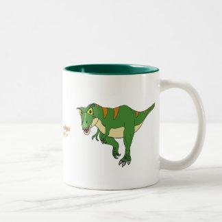 恐竜のコーヒーカップのTレックスおよびステゴサウルス ツートーンマグカップ