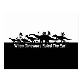 恐竜のシルエット ポストカード