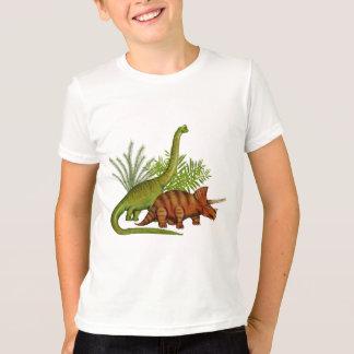 恐竜のジュラ紀のジャングル Tシャツ