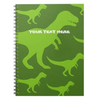 恐竜のティラノサウルス・レックスのレックスの有史以前のtrexのカスタム ノートブック