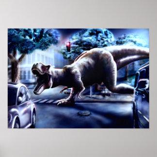 恐竜のファンタジーポスター ポスター