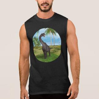 恐竜のブラキオサウルス 袖なしシャツ