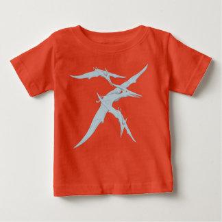 恐竜のベビーのTシャツの男の子か女の子 ベビーTシャツ