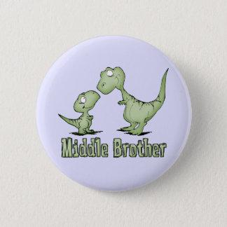 恐竜の中間の兄弟 5.7CM 丸型バッジ