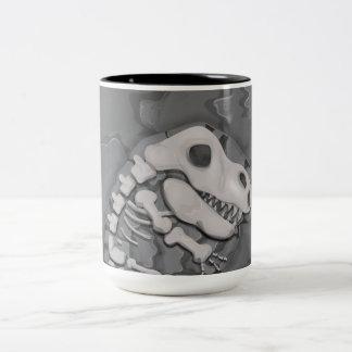 恐竜の化石 ツートーンマグカップ