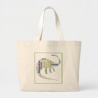 恐竜の単語の芸術 ラージトートバッグ