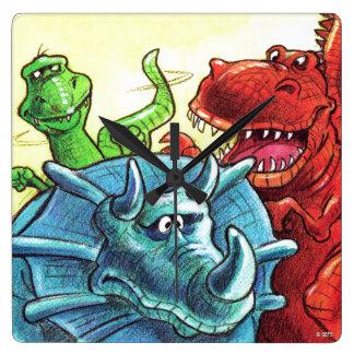 恐竜の友人 スクエア壁時計
