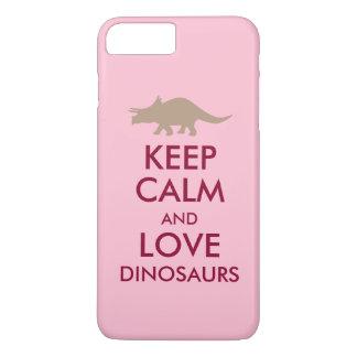 恐竜の恋人のギフトは穏やかなトリケラトプスをカスタム飼います iPhone 8 PLUS/7 PLUSケース