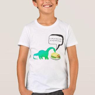 恐竜の昼休みのブリトーのおもしろTシャツ Tシャツ