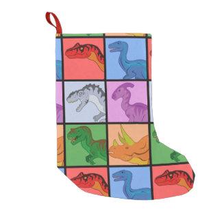 恐竜の正方形 スモールクリスマスストッキング
