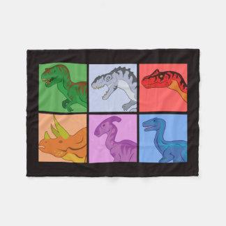 恐竜の正方形 フリースブランケット