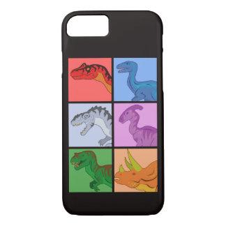 恐竜の正方形 iPhone 8/7ケース