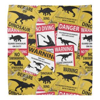恐竜の注意のシンボルや象徴 バンダナ