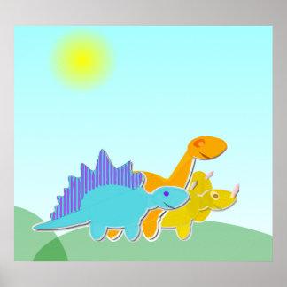 恐竜の漫画ポスター ポスター