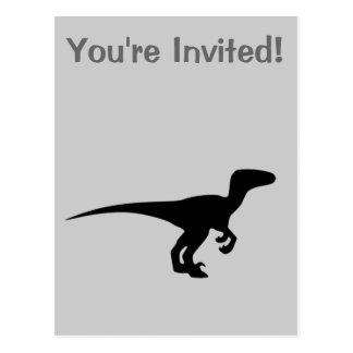 恐竜の猛禽、ディーノのデザイン ポストカード