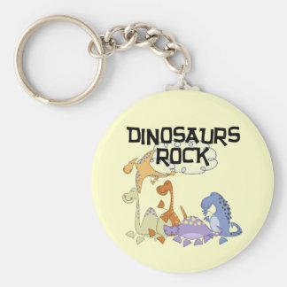 恐竜の石のTシャツおよびギフト キーホルダー