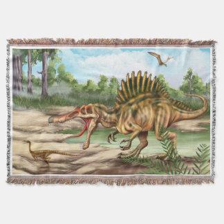 恐竜の種によって編まれるブランケット スローブランケット