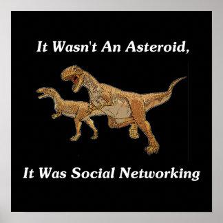 恐竜の絶滅の実質の原因 ポスター