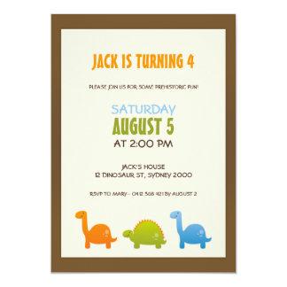 恐竜の誕生日の招待状 カード