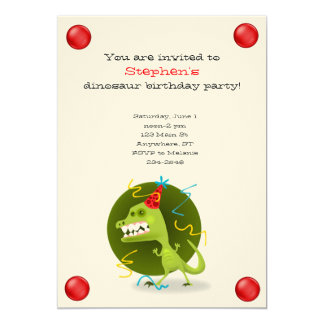 恐竜の誕生日の招待状 12.7 X 17.8 インビテーションカード