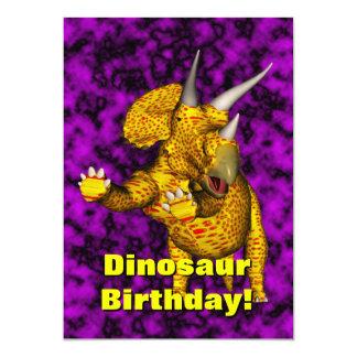 恐竜の誕生日の招待 カード