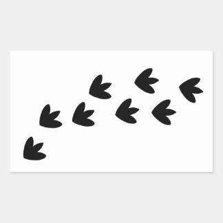 恐竜の足跡 長方形シール