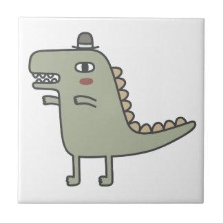 恐竜の身に着けている帽子 タイル