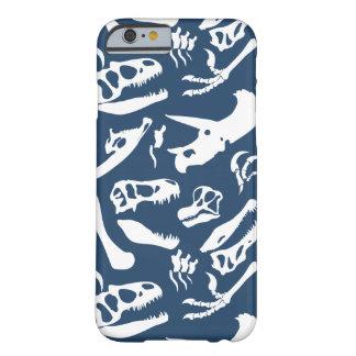恐竜の骨(青い) BARELY THERE iPhone 6 ケース