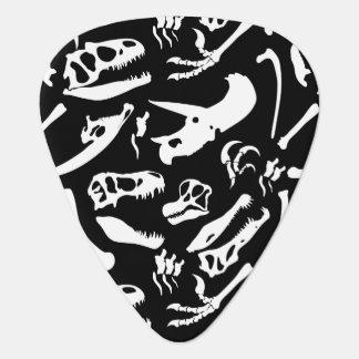 恐竜の骨(黒) ギターピック